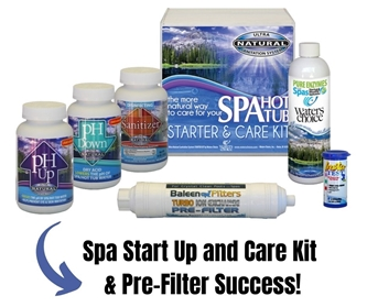 Spa PRE-FILTER and Start Up Kit Success